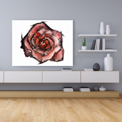 Canvas 36 x 48 - Watercolor rose