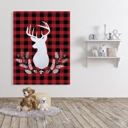 Canvas 36 x 48 - Deer plaid