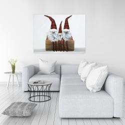 Canvas 36 x 48 - Three christmas gnomes