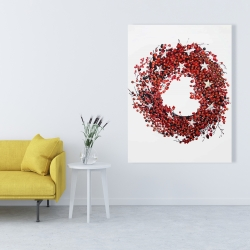 Canvas 36 x 48 - Red berry wreath