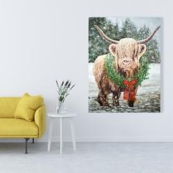 Canvas 36 x 48 - Highland christmas cow