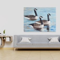 Canvas 36 x 48 - Canada geese in water