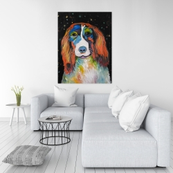 Canvas 36 x 48 - Colorful dog
