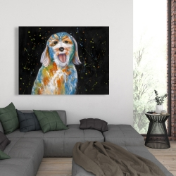 Canvas 36 x 48 - Abstract labradoodle