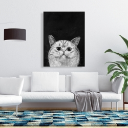 Canvas 36 x 48 - Watching cat