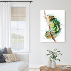 Canvas 36 x 48 - Watercolor chameleon