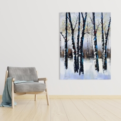 Canvas 36 x 48 - Frosted trees
