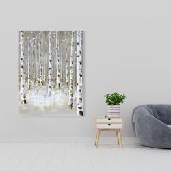 Canvas 36 x 48 - Birch forest by winter