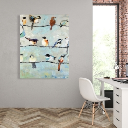 Canvas 36 x 48 - Small colorful birds