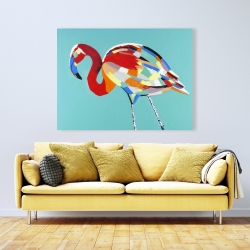 Canvas 36 x 48 - Abstract flamingo
