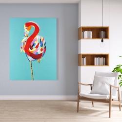 Canvas 36 x 48 - Colorful flamingo