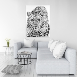 Canvas 36 x 48 - Leopard ready to attack