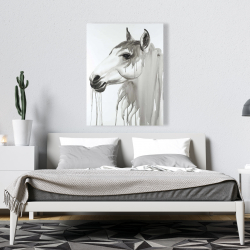 Canvas 36 x 48 - Beautiful white horse