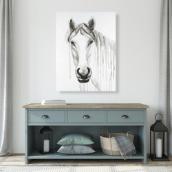 Canvas 36 x 48 - Solitary white horse
