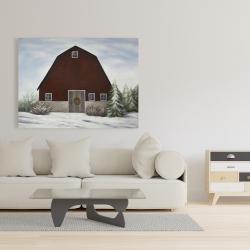 Canvas 36 x 48 - It's winter on the farm