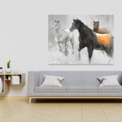 Canvas 36 x 48 - Abstract herd of horses