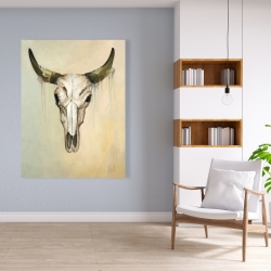 Canvas 36 x 48 - Color fading bull skull