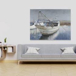 Canvas 36 x 48 - Blue fishing boat