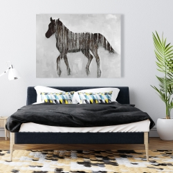 Canvas 36 x 48 - Gambading abstract horse