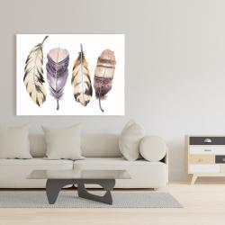 Canvas 36 x 48 - Purple feather set