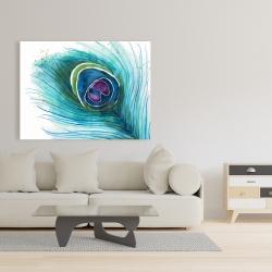 Canvas 36 x 48 - Peacock feather closeup