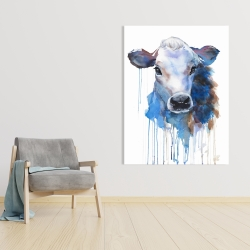 Canvas 36 x 48 - Watercolor jersey cow