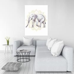 Canvas 36 x 48 - Elephant on mandalas