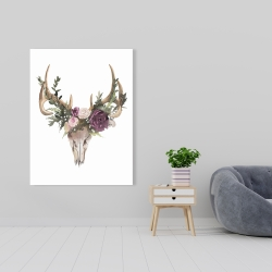 Canvas 36 x 48 - Deer skull with flowers