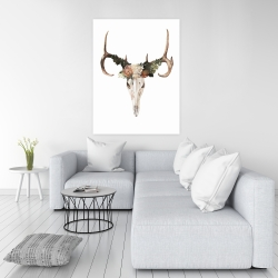 Canvas 36 x 48 - Deer skull with roses