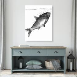 Canvas 36 x 48 - Happy swimming fish