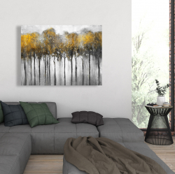 Canvas 36 x 48 - Abstract yellow forest