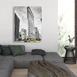 Canvas 36 x 48 - Outline of flatiron building to new-york