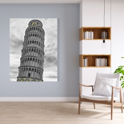 Canvas 36 x 48 - Tower of pisa in italy