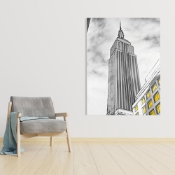 Canvas 36 x 48 - Outline of empire state building