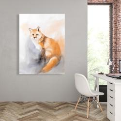 Canvas 36 x 48 - Watercolor fox