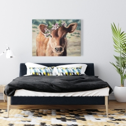 Canvas 36 x 48 - Cute jersey cow