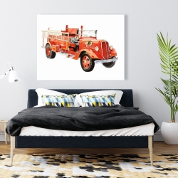 Canvas 36 x 48 - Vintage fire truck