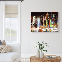 Canvas 36 x 48 - Cityscape by night