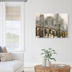 Canvas 36 x 48 - Bridge by a cloudy day