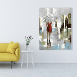 Canvas 36 x 48 - Red dress woman