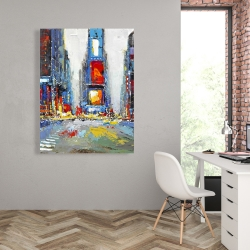 Canvas 36 x 48 - Abstract and colorful buildings