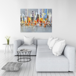 Canvas 36 x 48 - Color splash cityscape