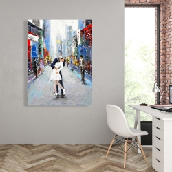 Canvas 36 x 48 - Kiss of times square