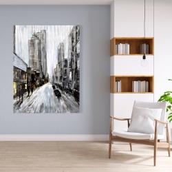 Canvas 36 x 48 - Gray gloomy street