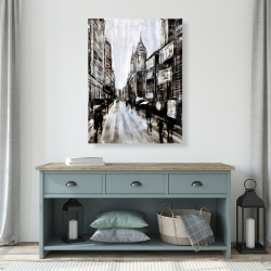 Canvas 36 x 48 - Busy gray street