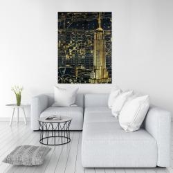 Canvas 36 x 48 - Gold city blue print
