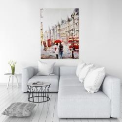 Canvas 36 x 48 - European street by a rainy day