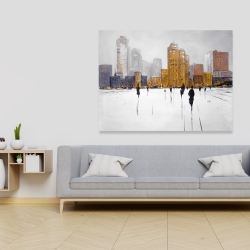 Canvas 36 x 48 - City on the horizon