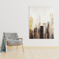 Canvas 36 x 48 - Earthy tones city
