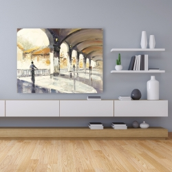 Canvas 36 x 48 - People in a spacious hall